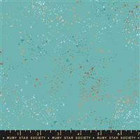 """108"""" Backing- Speckled Wide- Turquoise/Metallic"""