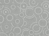 "108"" Backing - Sew Many Circles- Gray"