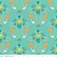 3/4 Yard: Under The Canopy- Main Teal