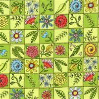 1/2 Yard: Doodle Pop- Doodle Garden Green