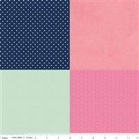 Fusible Cotton Fat Sixth- Pack #14 On Trend