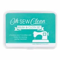 Oh Sew Clean Brush and Cloth Set- Teal