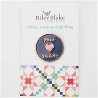Enamel Pin- Piece Love and Quilting