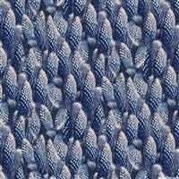 1/2 Yard: Loons- Speckled Feathers