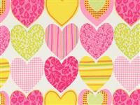 1/2 Yard: Waverly Inspirations- Hearts- Magenta
