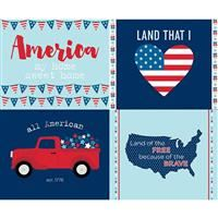 Fireworks & Freedom- Placemat Panel- Aqua