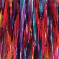 Painted Horses- Brushstrokes- Red