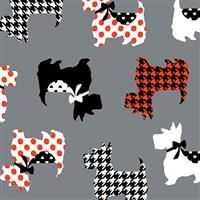 Dotty for Scottie- Sweet Scotties- Gray