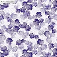 Violet Twilight- Pearly Blooms- White