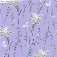 Violet Twilight- Shimmery Wild Flowers- Lilac