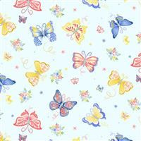 Bunnies & Blossoms- Garden Butterflies- Blue