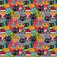 Christmas Sweater- Cats- Multi