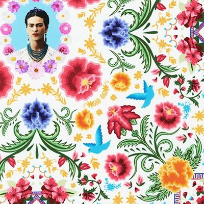 Frida Kahlo- Portrait- White