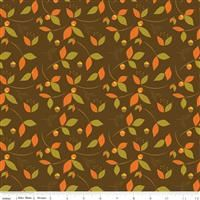 Give Thanks- Leaves- Brown