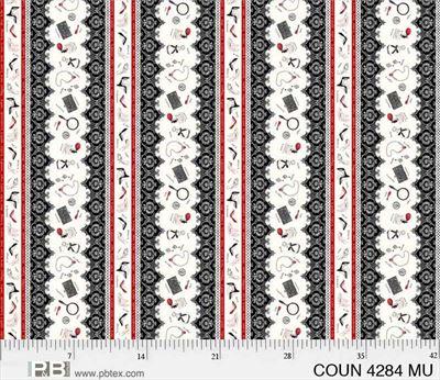 Couture Noir- Border Stripes