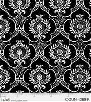 Couture Noir- Damask- Black