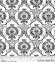 Couture Noir- Damask- White
