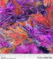 Flower Jewels- Batik Texture- Multi