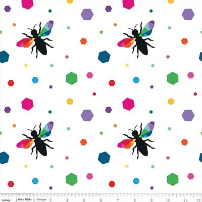 Create- Hexie Bees- White