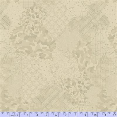 Faded and Stitched- Cream