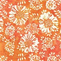 Batik- My Heart's Adobe- Flowers- Orange