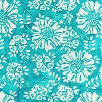 Batik- My Heart's Adobe- Flowers- Aqua