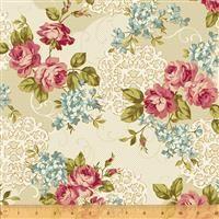 Spellbound- Floral Medallion-Cream/Metallic