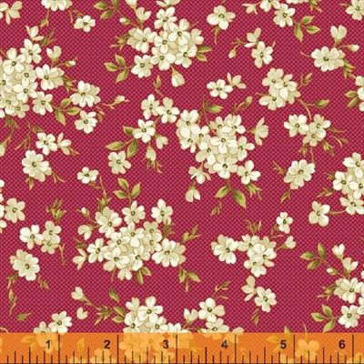 Spellbound- Floral Cluters-Red/Metallic