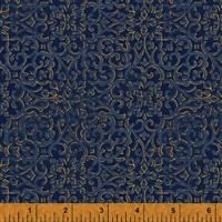 Spellbound- Lace Medallions- Navy/Metallic