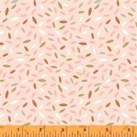 Kenzie- Sprinkled Leaves- Peach