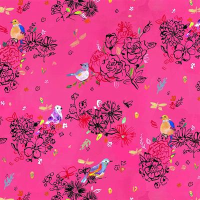 Tree of Life- Bird Floral- Multi