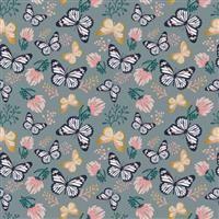 Emma & Mila- Butterfly- Slate/Gold Metallic