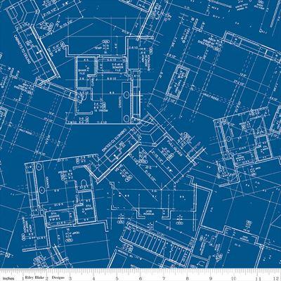 Conservatory- Blueprint- Dark Blue