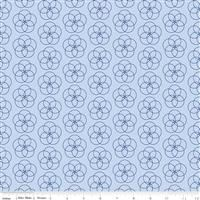 Conservatory- Circle Flower- Light Blue