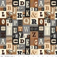 Cowboy Country- Alphabet Brown