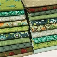 Grab Bag of Fat Quarters- Green