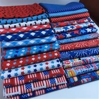 Patriotic Picnic- Fat Quarter Bundle- 24 Pieces