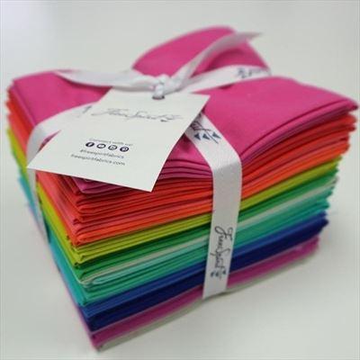Tula Pink Solids Fat Quarter Bundle- 22 pieces