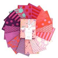 Tula Pink True Colors- Flamingo Fat Quarter Bundle- 16 pieces