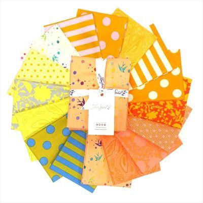 Tula Pink True Colors- Goldfish Fat Quarter Bundle- 16 pieces