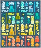 Awesome Ocean Quilt Kit by Elizabeth Hartman feat. Kona Cotton