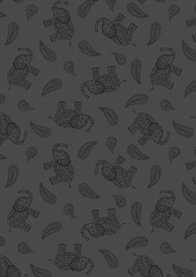 Soraya- Paisley Elephant- Black
