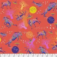 Migration- Wildebeests in Motion- Red