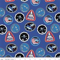 NASA- Patches- Blue
