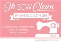 Oh Sew Clean Brush and Cloth Set- Pink
