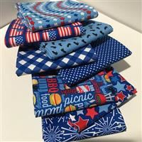 Patriotic Picnic- 1/2 Yard Bundle Blue