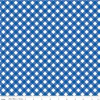 Patriotic Picnic- Gingham Blue