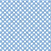 Patriotic Picnic- Gingham Light Blue