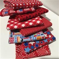 Patriotic Picnic- 1/2 Yard Bundle Red