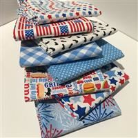 Patriotic Picnic- 1/2 Yard Bundle White